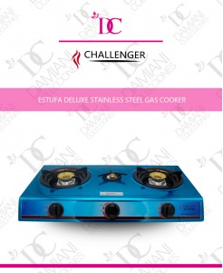 Estufa Deluxe Stainless Steel Gas Cooker Challenger CH-307SM